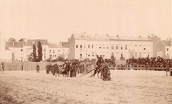 Lakotas Demonstrating Breaking Camp